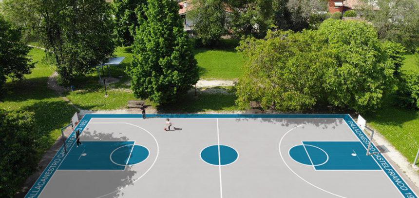 Al via il progetto di riqualificazione del campo da basket di Via delle Querce a Castelfranco