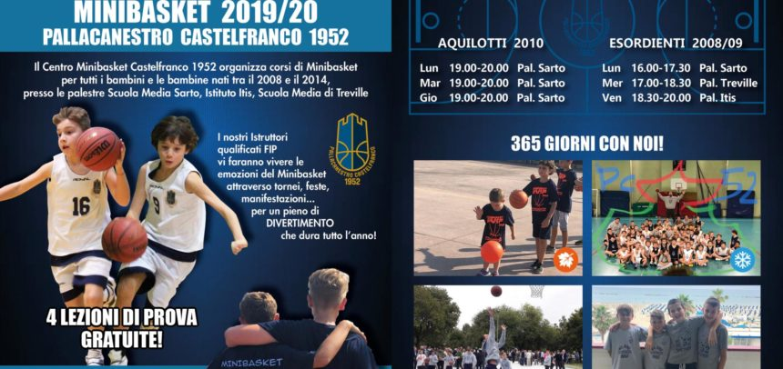 Iniziano i campionati anche per il Settore Minibasket PC1952 sponsorizzato Bi-Holiday