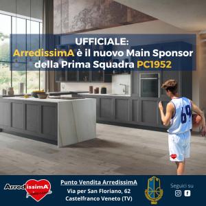 ArredissimA è il nuovo Main Sponsor della Prima Squadra PC1952