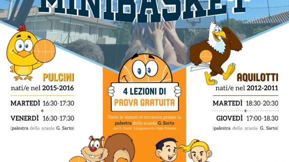 Stagione Minibasket al via dal 13 settembre!