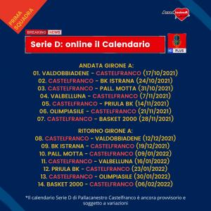 Pubblicato il Calendario del prossimo Campionato di Serie D