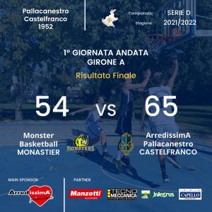 Esordio vincente per ArredissimA Castelfranco
